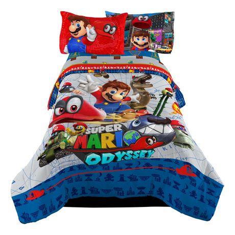 """Super Mario """"Caps Off"""" Twin/Full Comforter - image 1 of 1"""