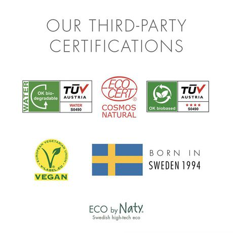 Eco by Naty Baby Wipes 24 Biodegradable and Compostable,12 packs of 20 Travel