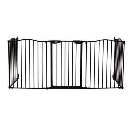 Bily Contoured Top Metal Superyard Black Barrier - image 3 of 4