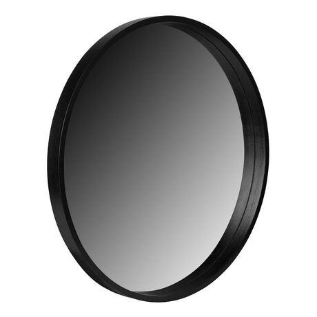 miroir rond hometrends au fini noir walmart canada. Black Bedroom Furniture Sets. Home Design Ideas