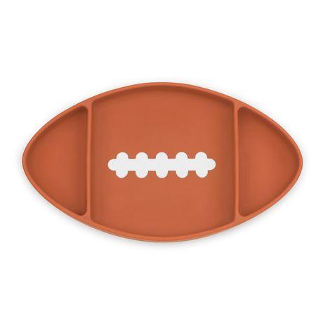 Bumkins - Silicone Grip Dish - Football - image 1 of 8