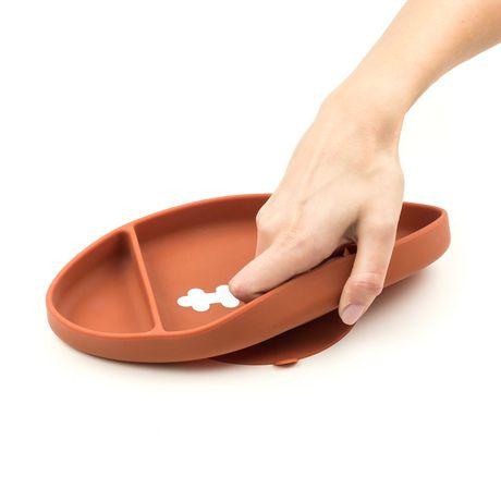 Bumkins - Silicone Grip Dish - Football - image 3 of 8