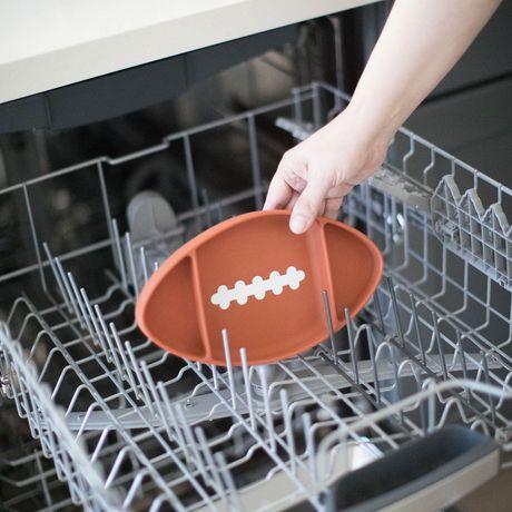 Bumkins - Silicone Grip Dish - Football - image 5 of 8