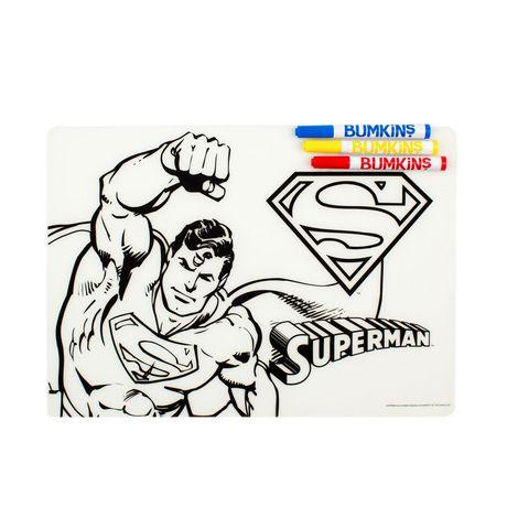 Coloriage Facile Superman.Bumkins Dc Comics Napperon De Coloriage En Silicone Superman
