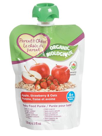 Parent's Choice Organic Apple, Strawberry and Oats Baby Food Purée - image 1 of 1
