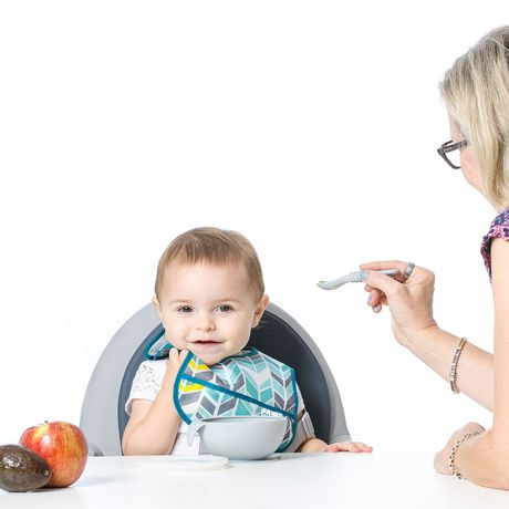 Bumkins - Silicone First Feeding Set with Lid & Spoon - Grey - image 6 of 6