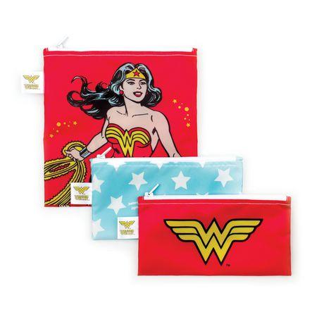 Bumkins DC Comics Snack Bags 3 Pack Wonder Woman - image 1 of 1