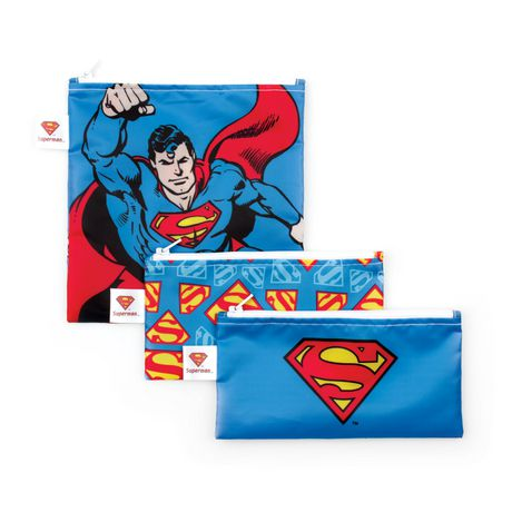 Bumkins DC Comics Snack Bags 3 Pack Superman - image 1 of 1