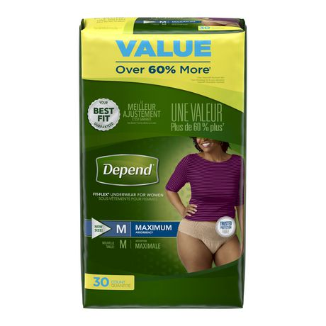 Depend Fit-Flex Incontinence Underwear for Women, Maximum Absorbency - image 1 of 3