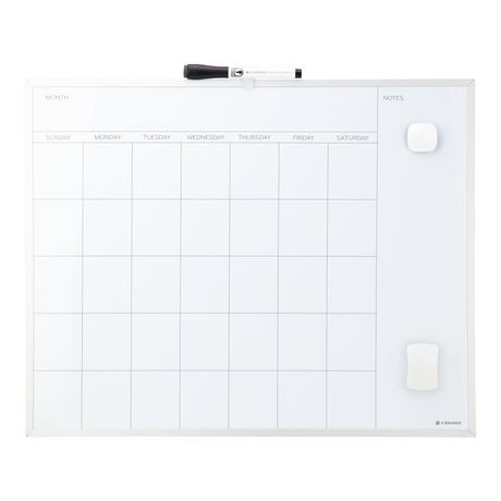 U Brands Metal Frame Dry Erase Calendar by U Brands