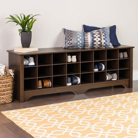 "Prepac 60"" Shoe Cubby Bench, Multiple Finishes - image 1 of 9"