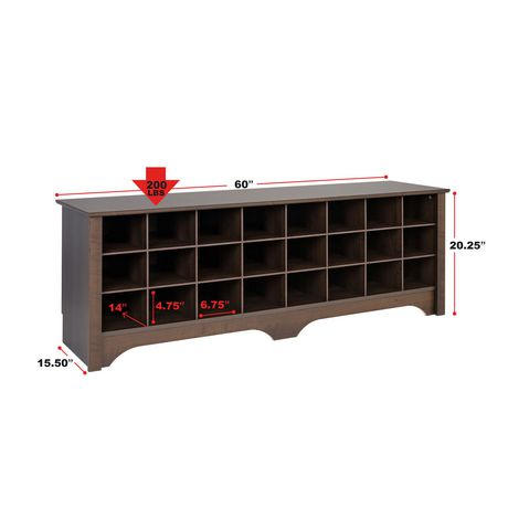 "Prepac 60"" Shoe Cubby Bench, Multiple Finishes - image 7 of 9"