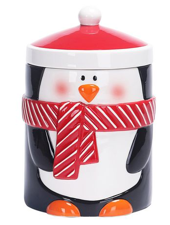 Holiday Time Penguin Cookie Jar - image 1 of 1
