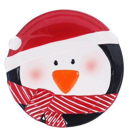 Holiday Time Penguin Appetizer Plate - image 1 of 1