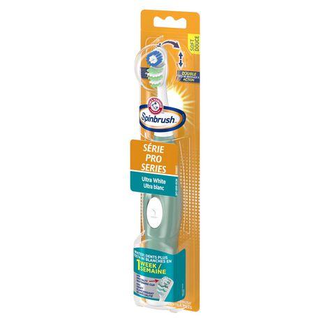 Brosse à dents à piles douce Ultra blanc Série Pro Spinbrush d'ARM & HAMMER - image 4 de 5