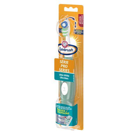 Brosse à dents à piles moyenne Ultra blanc Série Pro Spinbrush d'ARM & HAMMER - image 4 de 5