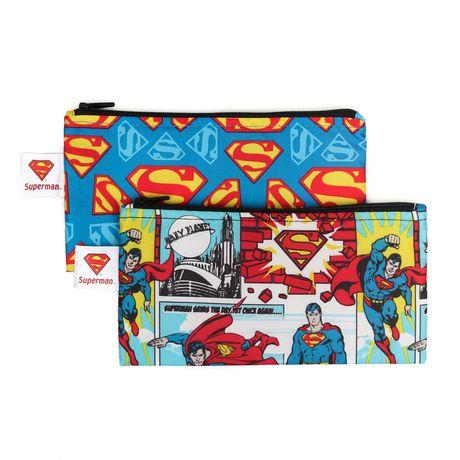Bumkins DC Comics Snack Bag 2 Pack Small Superman - image 1 of 2