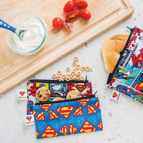 Bumkins DC Comics Snack Bag 2 Pack Small Superman - image 2 of 2