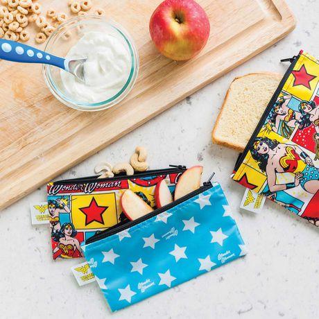 Bumkins DC Comics Snack Bag 2 Pack Small Wonder Woman - image 2 of 2