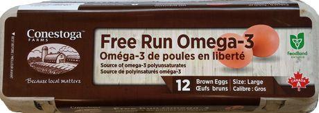 free run brown eggs