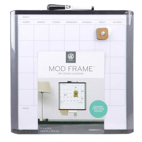 U Brands Mod Frame Dry Erase Calendar Board Walmart Canada