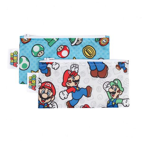 Bumkins Nintendo Small Snack Bag 2 Pack Super Mario - image 1 of 1