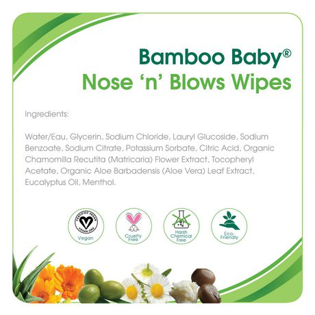 Aleva Naturals® Bamboo Baby® Nose 'n' Blows Wipes - 30ct - image 2 of 3