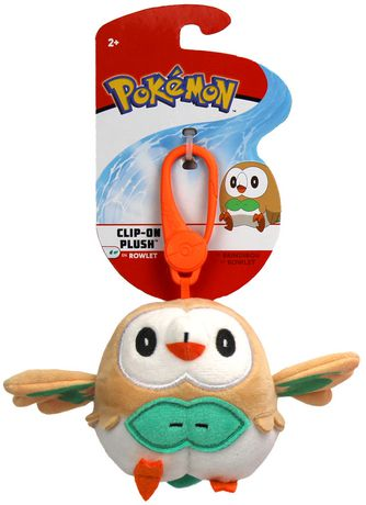 Pokemon Clip On Plush Rowlet Walmart Canada
