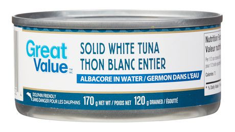 Great value solid white tuna albacore in water walmart for How much are fish at walmart