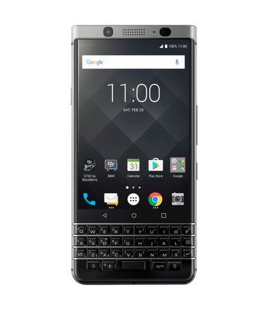 TCL BlackBerry KEYone 4G Lte with 32GB Memory Cell Phone (unlocked) - Silver - image 1 of 6