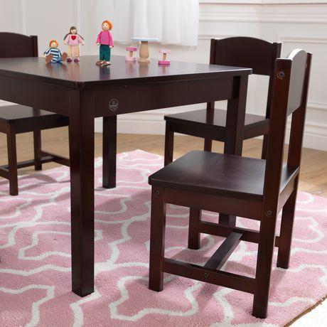 Kidkraft Farmhouse Espresso Table Amp 4 Chair Walmart Canada