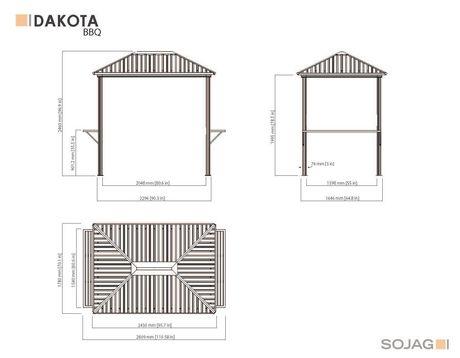 Sojag BBQ Shelter Dakota - image 9 of 9
