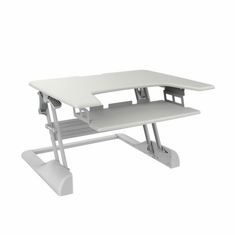 TygerClaw TYDS14014 Sit-Stand Desktop Workstation White Stand - image 1 of 6