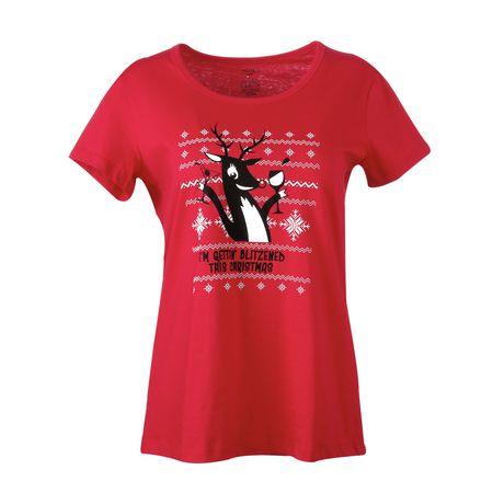 T-shirt à graphisme George pour femmes à motif des fêtes - image 1 de 1