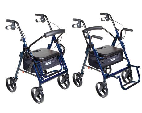 Drive Medical Duet Transport Wheelchair Rollator Walmart
