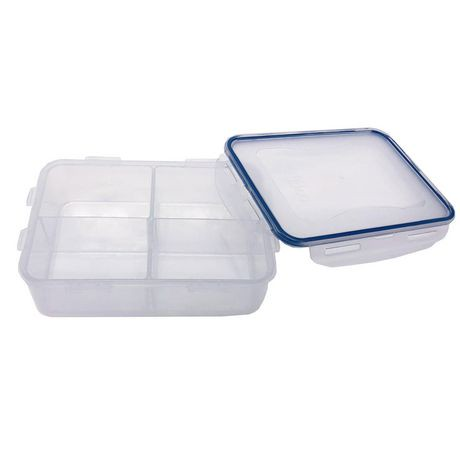 lock lock bento 1 6 l lunch container with dividers walmart canada. Black Bedroom Furniture Sets. Home Design Ideas