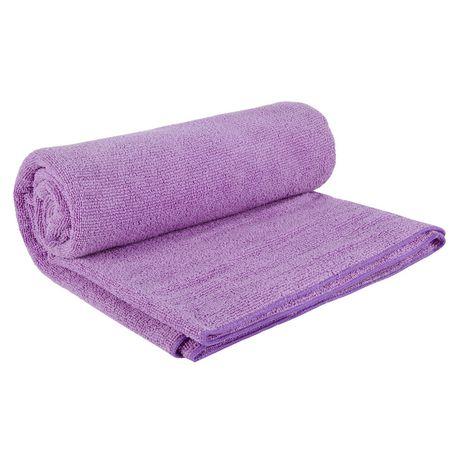 Everlast 24 Inch X 68 Inch Yoga Mat Towel - Purple - image 2 of 2