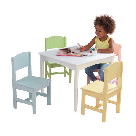 KidKraft Table et 4 chaises Nantucket - Pastel - image 2 de 7