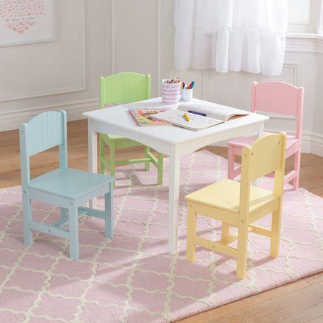KidKraft Table et 4 chaises Nantucket - Pastel - image 3 de 7