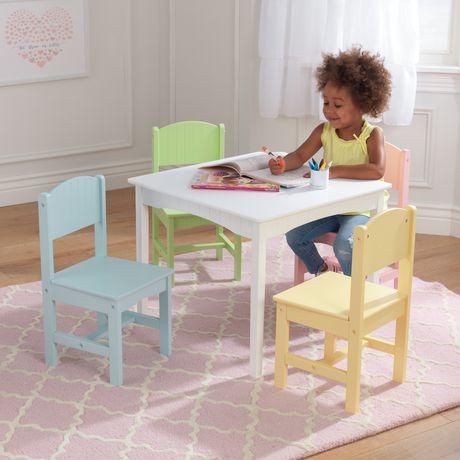 KidKraft Table et 4 chaises Nantucket - Pastel - image 4 de 7
