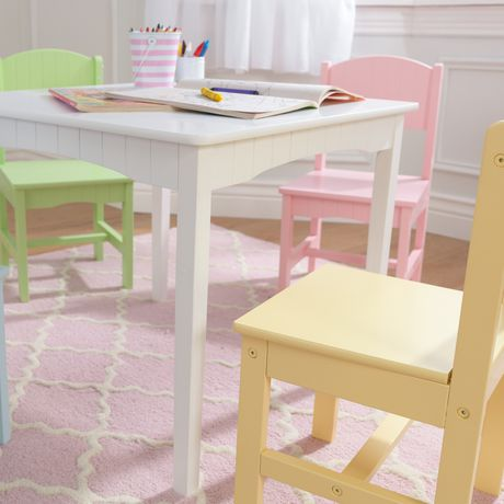 Sensational Kidkraft Nantucket Table 4 Pastel Chairs Short Links Chair Design For Home Short Linksinfo