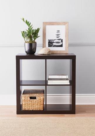 "hometrends 2 X 4"" Espresso Hollow Core Cube Display Shelf ..."