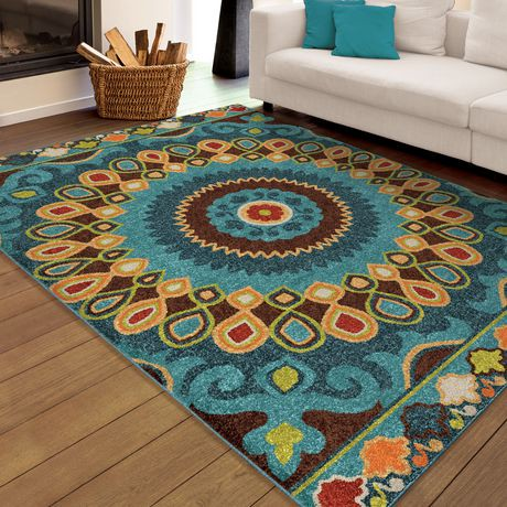 Orian Rugs Indo China Blue Area Rug Walmart Canada