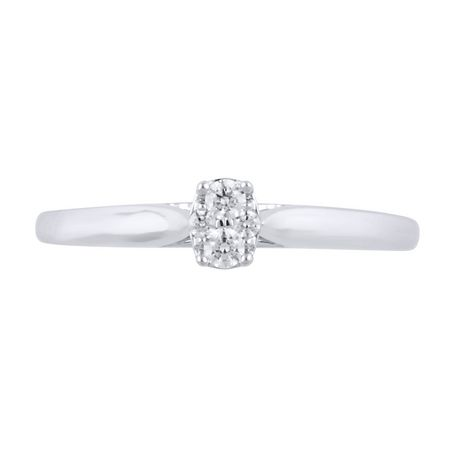 0.09Ct T.W. Diamond infini® Oval Fashion Ring in 10K White Gold - image 3 of 4