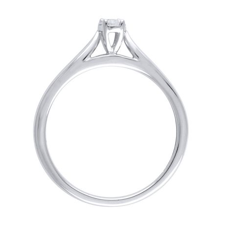 0.09Ct T.W. Diamond infini® Oval Fashion Ring in 10K White Gold - image 2 of 4