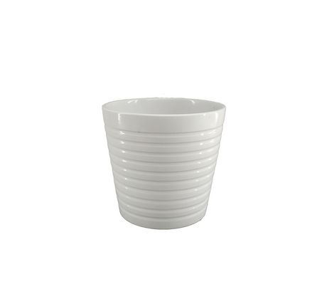 5IN RIBBED POT-WHT - image 1 of 2