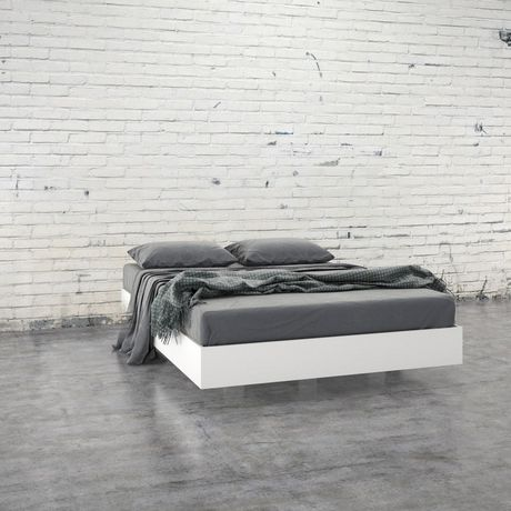 Nexera Paris Platform Bed, White - image 2 of 4