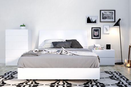 Nexera Paris Platform Bed, White - image 4 of 4