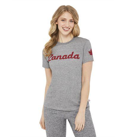 T-shirt à encolure ronde Canadiana pour femmes - image 1 de 6