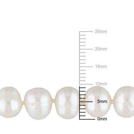 Bracelet Miabella avec Perles cultivées d'eau douce 7,5-8mm en argent sterling, 7,5 po - image 2 de 5